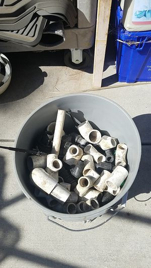 Bucket full of pvc connectors for irrigation sprinklers for Sale in Tracy, CA