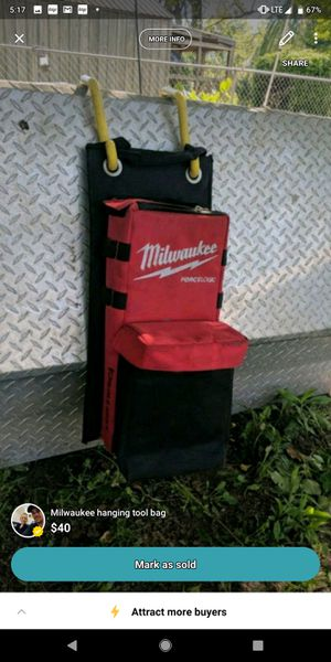Milwaukee hanging tool bag for Sale in Simmesport, LA