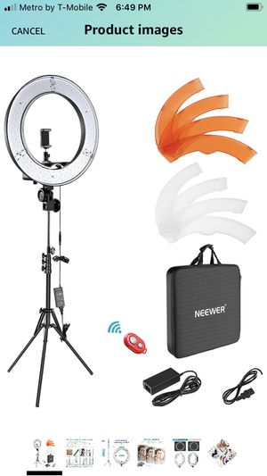 Neewer ring light for Sale in Oakland, CA