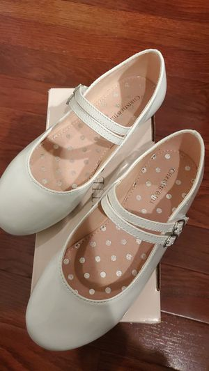 Girls white shoes size 3 wore one time only for Sale in Madison Heights, MI