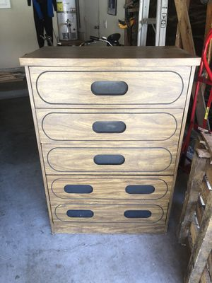 Cool looking dresser five drawers for Sale in Huntington Beach, CA