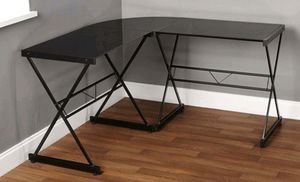 Atrium Metal and Glass L-shaped Computer Desk $75 FIRM for Sale in Redlands, CA