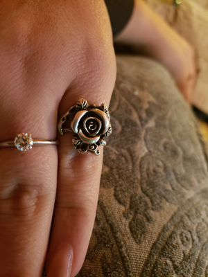 SILVER ROSE RING for Sale in Woodway, WA
