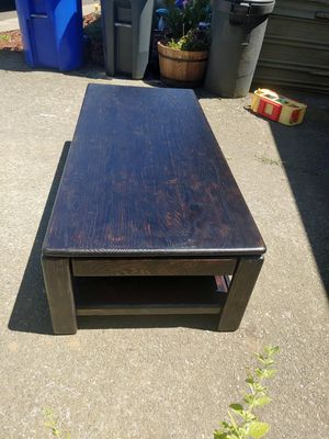 Solid wood coffee table for Sale in Estacada, OR