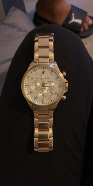 Yellow gold men's Michael Kors watch for Sale in Tampa, FL
