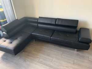 Black Sectional Sofa $599 / Financing Available for Sale in Miami, FL