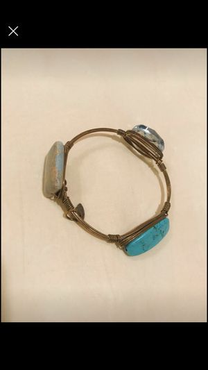 Natural stone and manmade crystal bracelet for Sale in Murfreesboro, TN