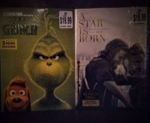 New DVD's : A Star Is Born & The Grinch for Sale in Tomball, TX