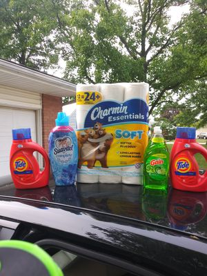 Tide laundry detergents charmin bundle for Sale in Grove City, OH