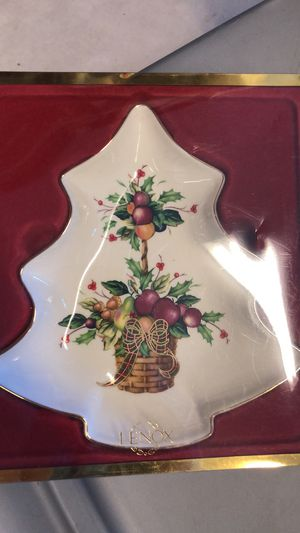 Lenox Holiday Tartan candy dish for Sale in Oregon City, OR