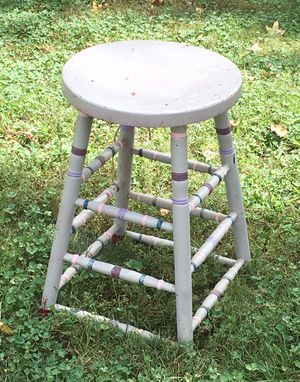 98 yr. old Movie Theater Ticket Taker Stool Gotta get past the ugly paint job! for Sale in Washington, MO