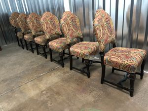 ARHAUS DINING CHAIRS. RECOVERED. DINING. GRAND STYLE for Sale in Cleveland, OH