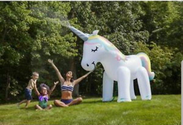 Brand New 6ft Inflatable Unicorn Sprinkler
