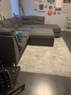 Dark grey sectional couch! Amazing condition. 750 obo for Sale in Surprise, AZ