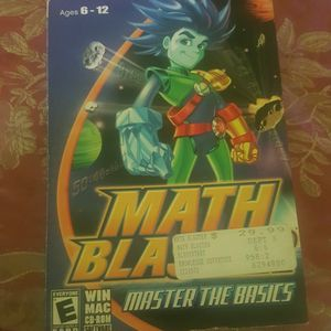 MATH BLASTER AGES 6-12 TEACHERS RECOMENDED CORRELATED MEETS NATIONAL AND STATE MATH STANDARS for Sale in Chula Vista, CA