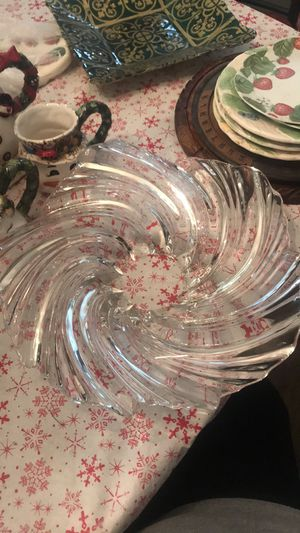 Clear glass candy dish for Sale in Mount Rainier, MD
