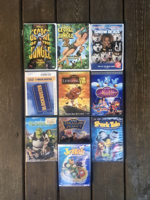 10 Kids DVD Movies With Cases for Sale in Chicago, IL