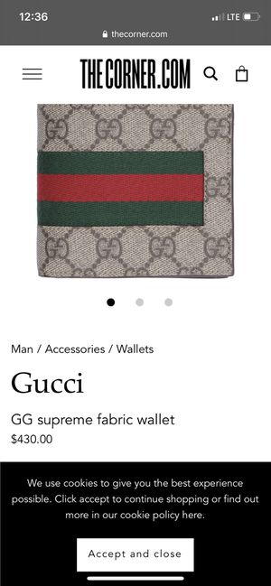 Gucci wallet for men for Sale in Orlando, FL