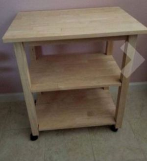 New!! Microwave cart, kitchen storage cart, rolling kitchen cart, kitchen island for Sale in Phoenix, AZ