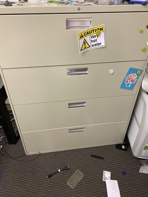 """HON 4-Drawer Lateral File Cabinet, Letter/Legal/A4, 36"""" Wide tan for Sale in Fremont, CA"""