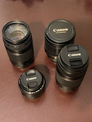Canon lenses!! 50mm, 28-135mm, 2x 75-300mm, for Sale in Los Angeles, CA