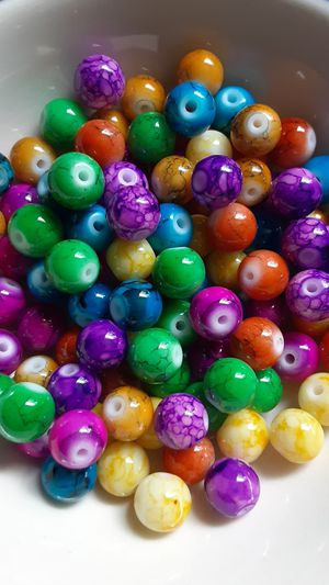 100 pc Mixed Colorful Mottled Glass Beads 8mm for Sale in Ridgeville, SC
