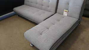 Gray futon sectional sofa reduced for Sale in Phoenix, AZ