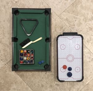 Pool and Air Hockey Table Games for Sale in Miami, FL