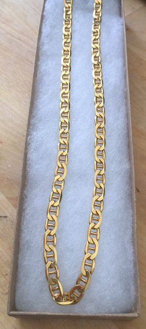 925 Italian Sterling Silver Mariner Chain 24k gold plated for Sale in West Covina, CA