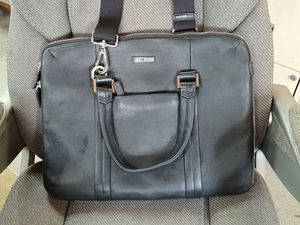 Leather Laptop computer bag with compartments and shoulder strap for Sale in West Lafayette, IN