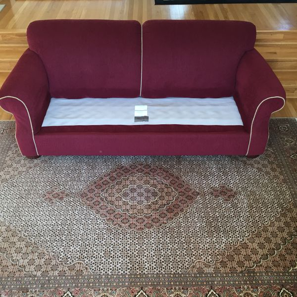 Sofa/Chair/Drapes and Persian Tabriz $2,200 all
