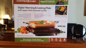 COPPER CHEFF COOK/WARM PLATE & PAN for Sale in Beaver Falls, PA