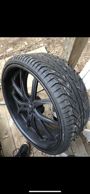 24 inch rims and tires for Sale in Atlanta, GA