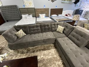 Grey 2 Pc Sectional Couch | Delivery & Pick Up Available ‼️📦 for Sale in Downey, CA