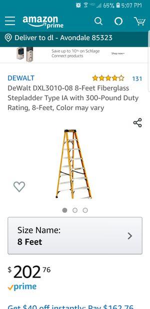DEWALT LADDER 8' for Sale in Avondale, AZ