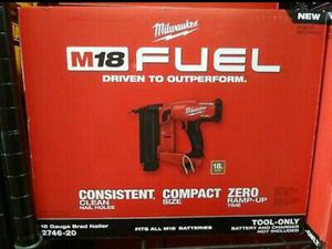 Milwaukee M18 FUEL 18-Volt Lithium-Ion Brushless Cordless Gen II 18-Gauge Brad Nailer (Tool-Only) for Sale in Stickney, IL