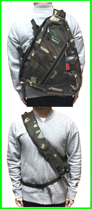 NEW! Camouflage sling Crossbody Bag Side Bag hiking trekking camping biking fishing work bag school bag gym bag edc backpack for Sale in Carson, CA