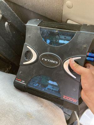 1000w nitro amp for Sale in Bakersfield, CA