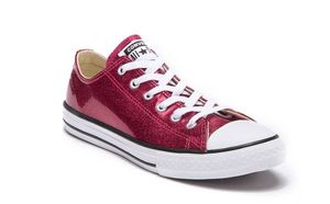 Converse Kids' Chuck Taylor All Star Glitter Low Top Sneaker.Size 2-3 for Sale in Houston, TX