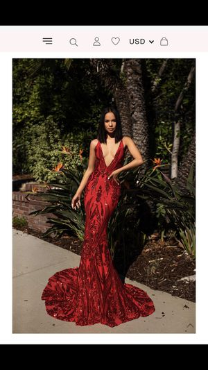 Red Mermaid Sequin Prom Dress for Sale in Rockville, MD