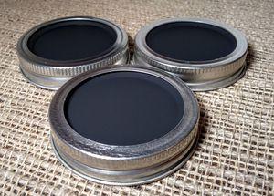 Chalkboard 3 Mason Jar Regular Mouth Lid/Ring Clear Powder Coat Finish for Sale in Montezuma, OH