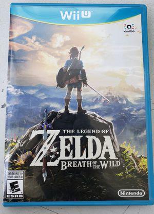 Legend of Zelda: Breath of the Wild for Nintendo WiiU for Sale in Los Angeles, CA