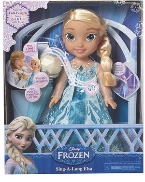 Frozen Elsa with microphone..sing in ENGLISH AND SPANISH! for Sale in St. Cloud, MN