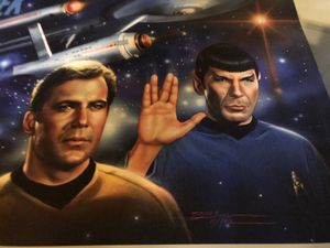 Star Trek Picture - Vintage Kirk, Spock & The Enterprise for Sale in Mount Holly, NJ