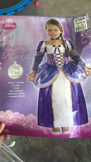 Rapunzel Costume Girls 8-10 for Sale in Katy, TX
