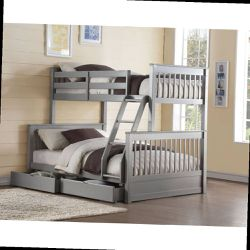 Twin/Full Bunk Bed w/2 Drawers - 37755 - Gray for Sale in Ontario,  CA