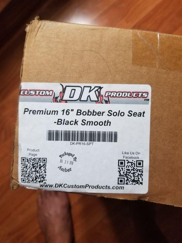 "16"" La Rosa design solo seat with dk custom mount for harley Davidson sportster 04-up"