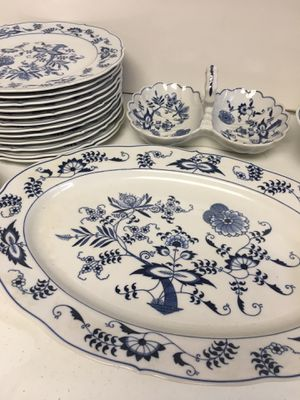Stunning Blue Danube fine china set -vintage made in Japan for Sale in Northfield, IL