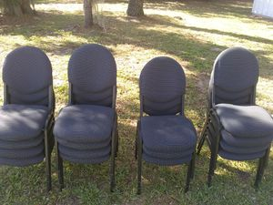 20 Black Commercial Chairs, for Church, Office, Events for Sale in Sebring, FL