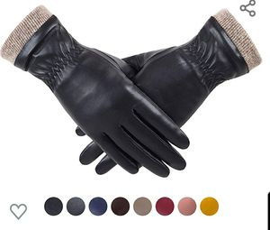 REDESS Winter Leather Gloves for Women, Wool Fleece Lined Warm Gloves, Touchscreen Texting Thick Thermal Snow Driving Gloves for Sale in Las Vegas, NV